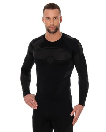 Bluza termoaktywna męska BRUBECK DRY czarny/grafit