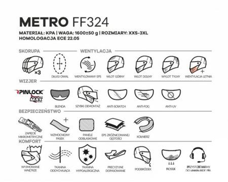 Kask adventure adv LS2 FF324 METRO EVO SOLID czarny mat
