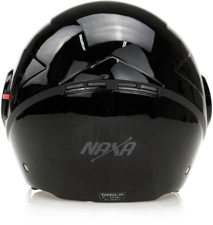 Kask otwarty NAXA S21 A czarny połysk