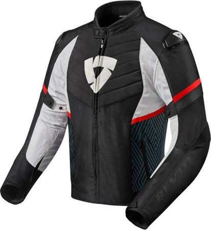 Kurtka tekstylna Rev'it ARC H2O czarno-czerwona