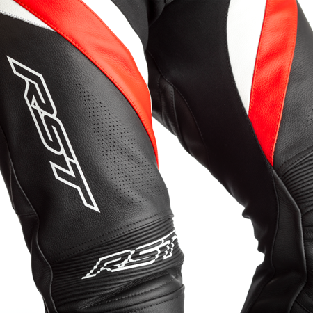 Spodnie skórzane RST TRACTECH EVO R CE black/red/white (2462)