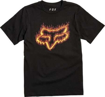 T-SHIRT FOX JUNIOR FLAME HEAD BLACK/ORANGE
